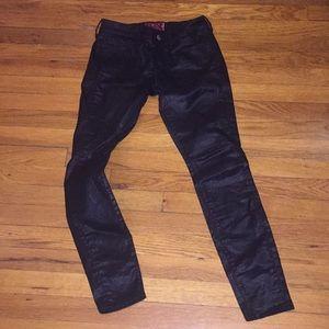 Lucky brand Charlie super skinny black jeans pants
